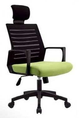 ym-a420 executive mesh chair with headrest black-green