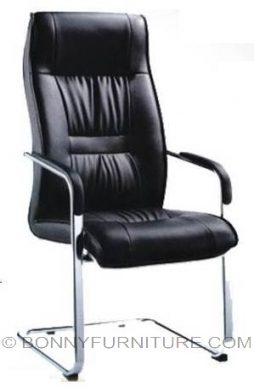 ym-a43 vsitors chair leatherette sled