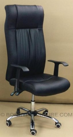 1535 executive chair chrome base reclining leatherette