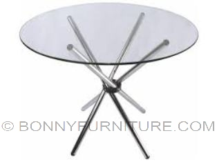 c90 chopstick table round clear glass