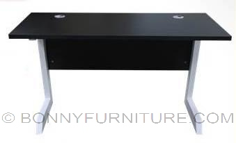 a26 office table metal legs laminated top