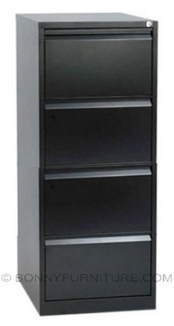 sfc-052-4 vertical filing cabinet 4-layers black