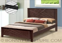 ed2945 wooden bed queen size