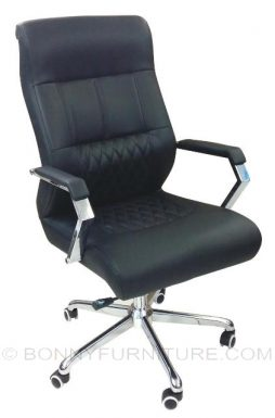 106 executive chair black leatherette
