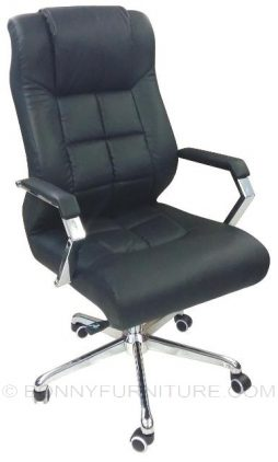 107 executive chair black leatherette
