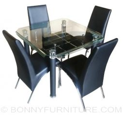 828 Dining Set 4-seater square