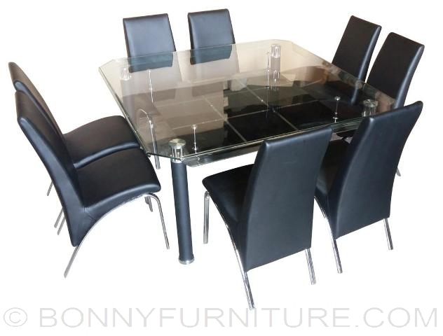828 Dining Set 8 seater square  828  4 Seater   6 Seater   8 Seater  Dining Set   Bonny Furniture. Dining Sets For 8. Home Design Ideas