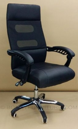 90 Executive Chair chrome base leatherette black