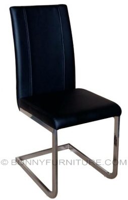dc4693 dining chair leatherette black
