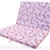 fold-a-mattress thin cotton uratex pink