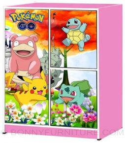 mk-771 small children cabinet pink pokemon