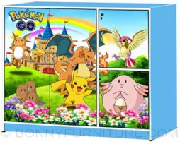 mk-882 big children cabinet blue pokemon