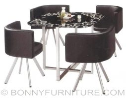 qy-804b dining set 4-seater