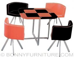 qy-818 dining set 4-seater