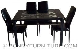 qy-t001 chair 202 table dining set 4-seaeter 6-seater