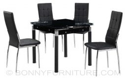 uh-caleb expandable dining set 4-seaters