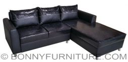 crocs l-shape sofa black
