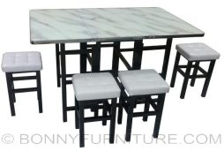 a04 foldable dining set 4s