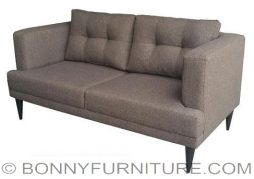 squadra 3-seater sofa brown