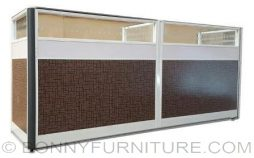 hy4402 office table with partition front