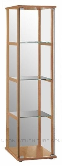 haze display cabinet beech