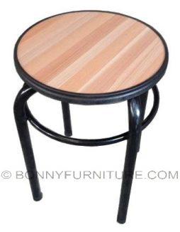 beige stool beech top