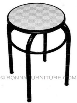 checkered stool