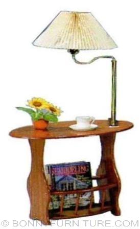 pc-2000 magazine rack with lampshade