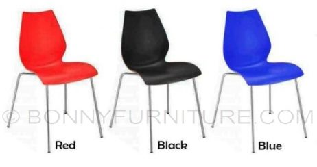 stc-9076 plastic chair red black blue