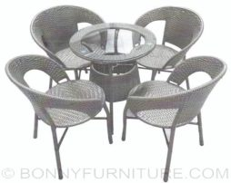 642-854 rattan coffee set 4s