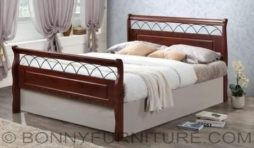 a-light wooden bed twin queen