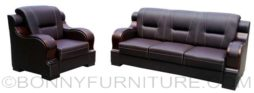 09c sofa set brown