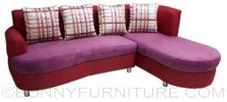 ADRIAN lshape sofa fuschia