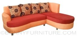 adrian lshape sofa orange