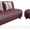 alpha sofa set 311 dark brown