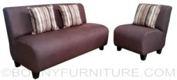 alpha sofa set 311 dark brown