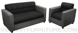 benetton sofa 211 black-gray