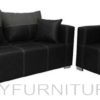 bordura sofa set 311 black