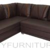 brown cazzaro lshape sofa