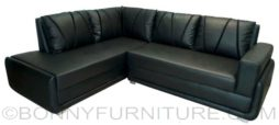 black cazzaro lshape sofa