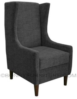 elisse accent chair dark gray