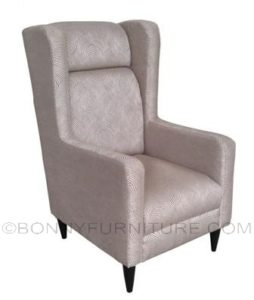 elle accent chair brown
