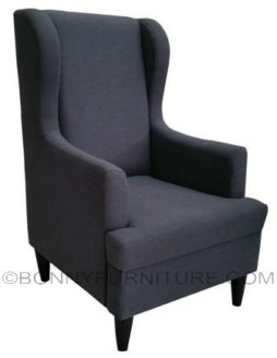 elysee field accent chair dark gray