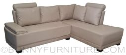 linux lshape sofa pvc beige