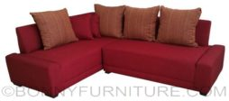 minotti lshape sofa red