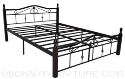 beatrice wooden post steel bed