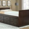 captain bed with pull-out