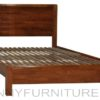 db-5229 wooden bed dirty oak