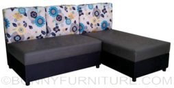 moonflower lshape sofa black