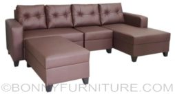 symphony with single lshape sofa pvc brown